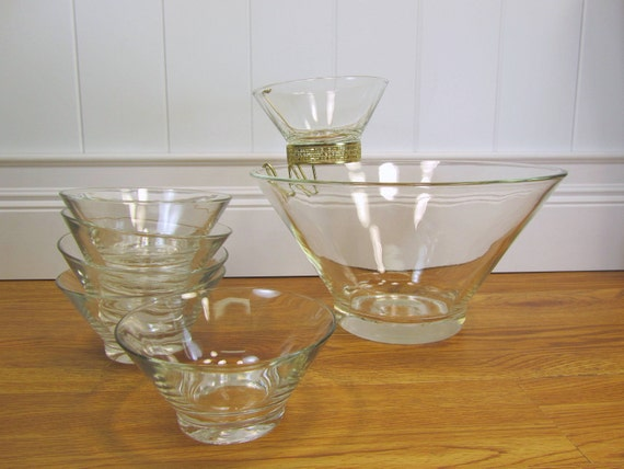 Mid Century Vintage Chip and Dip Set