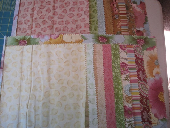 Quilt fabric, scraps, destash...coordinating fabric Park Lane, 8 ounces
