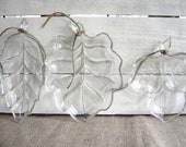 Vintage Leaf Relish Dishes -Set of Three- Fall Wedding, Wedding Buffett, Wedding Table