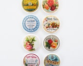 Vintage Roses - Set of 8 Flair Buttons