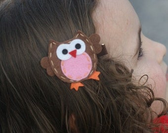 Adorable Owl Hair Clip, Badge Reel, Planner Accessory, Bookmark - Meet Miss Owlexa