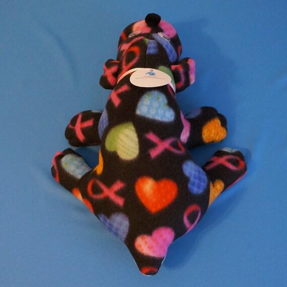 Breast Cancer Awareness Scraphound - Joy, stuffed dog