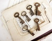 vintage skeleton keys - chunky antique style - use in jewelry or mixed media - set J