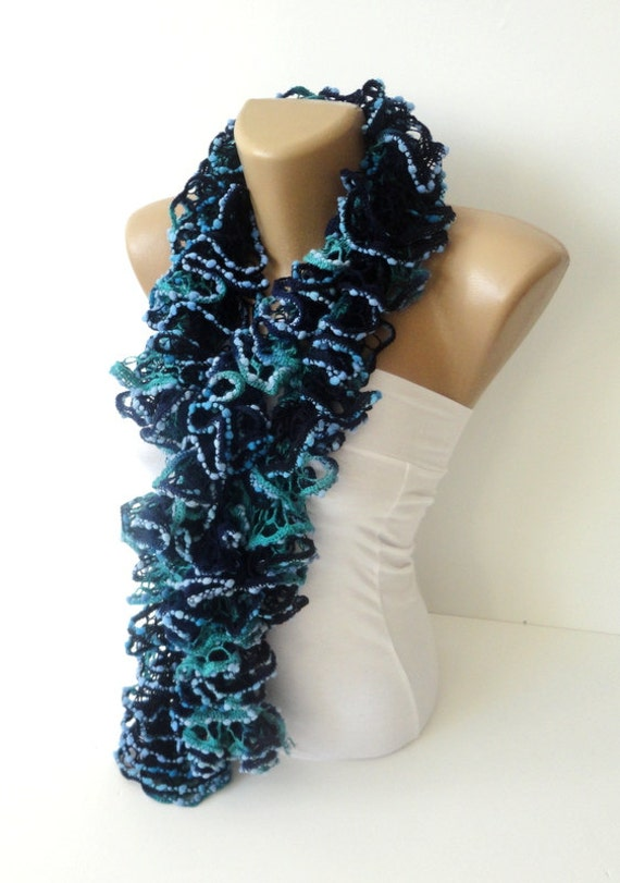 knitted ruffle scarf knit scarf knitting scarf
