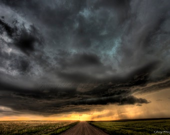 Supercell thunderstorm in Wyoming  Fine art print