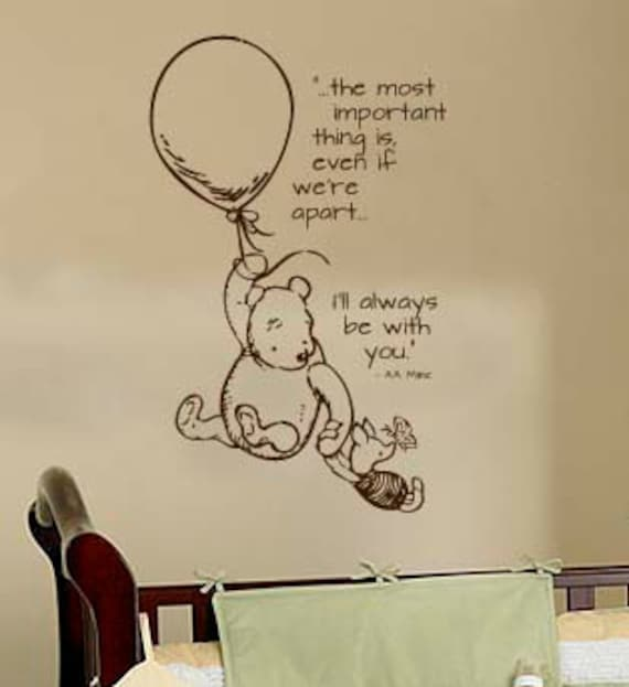 Classic Pooh Wall Decal By Wildgreenrose On Etsy