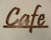 Cafe Word Kitchen and Home Decor Metal Wall Art - Antique Copper