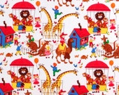 Fabric C6212 CIRCUS TIME Big Top Lions Giraffes Camels Animals Nursery Timeless Treasures Quilting Sewing Cotton 1 Yard