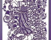 "Women of the Bible - Ruth: Inner Strength and Devotion. Papercut 16""X12"""