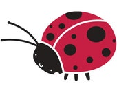 Ladybug Stencil for Painting Girls Room Wall Mural   (SKU110-istencil)