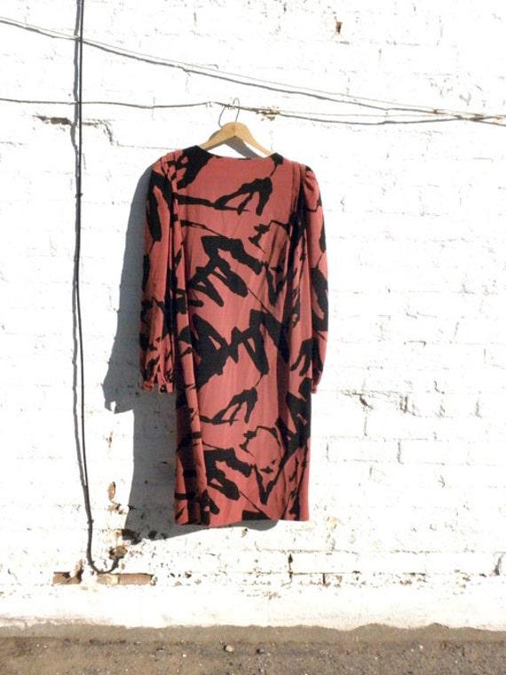 BOLD strokes modern dress vintage 1980s