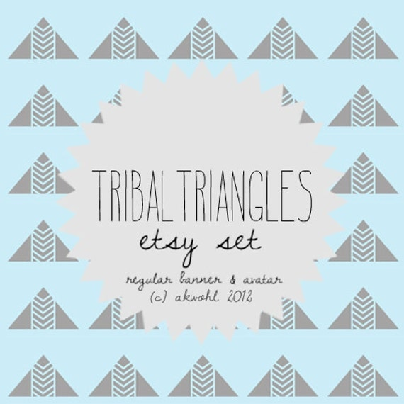 Tribal Triangles - etsy set