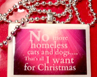 All I Want For Christmas  Pendant Necklace