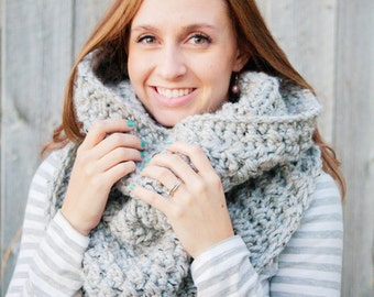 Instant Download - CROCHET PATTERN PDF - Crochet Infinity Scarf Pattern - Permission to Sell Finished Items