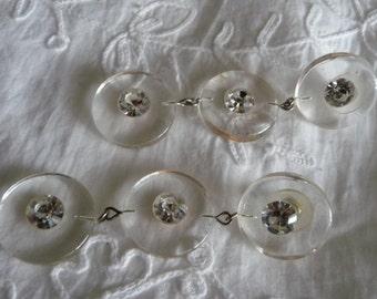 Vintage  Rhinestone Lucite earrings