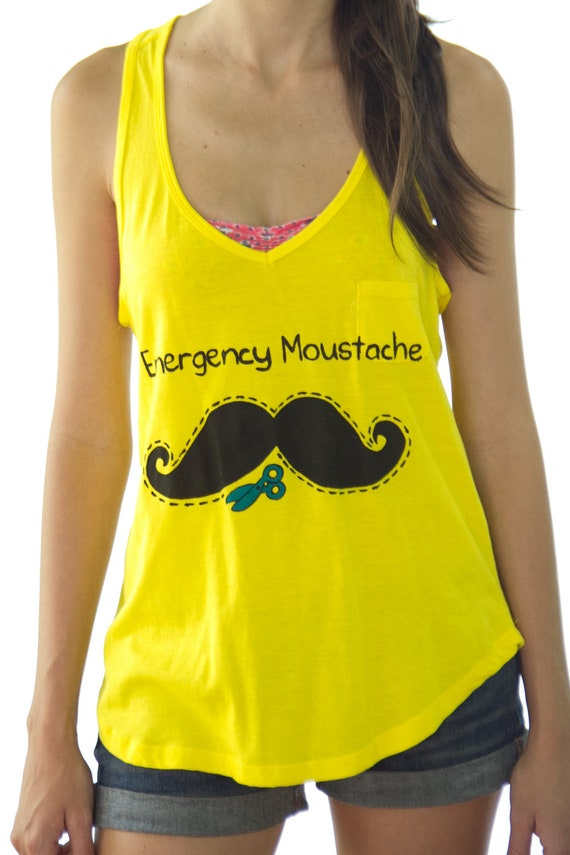 Emergency Moustache Shirt For Women