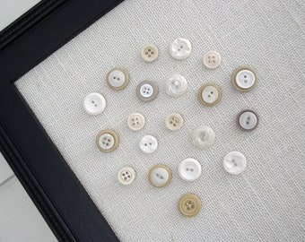 Vintage Style Button Magnets - Set of 8 in Your Choice of Colors - For Magnetic Memo Bulletin Boards