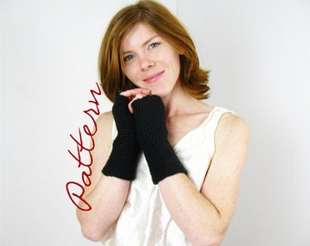 Crochet Pattern PDF Fingerless Gloves Long Fingerless Arm Warmers