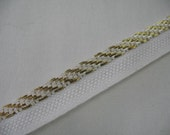 WHITE and GOLD Pillow Trim Piping Cord Gimp