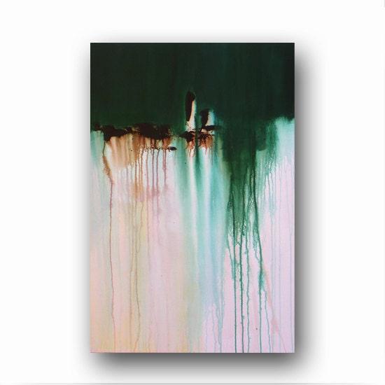 Canvas abstract painting minimalist art large original for Art minimal pompidou