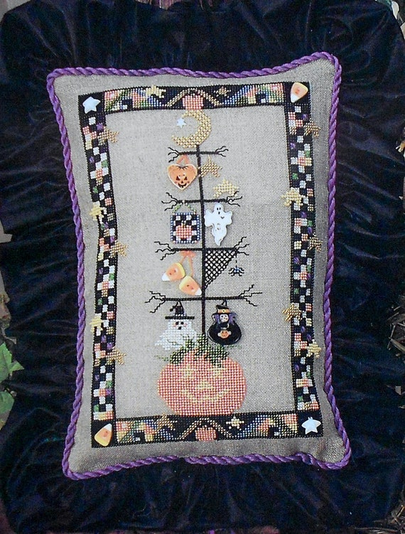 Mill Hill Beads TREASURED & BUTTONED HARVEST Halloween - Counted Cross Stitch Pattern Chart
