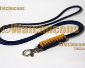 Paracord Lanyard Snake Braid Snap Hook - Name ID Badge USB Stick Keys Lifeguard Whistle - Custom Colors