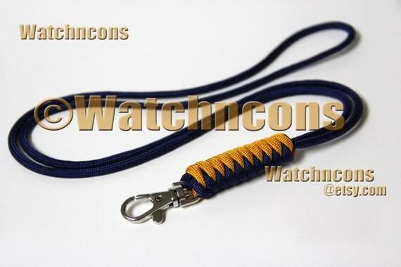 Paracord Lanyard Snake Braid Snap Hook - Name ID Badge USB Stick Keys Lifeguard Whistle - Custom Colors