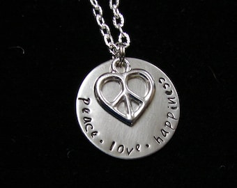 Peace Love Happiness Necklace