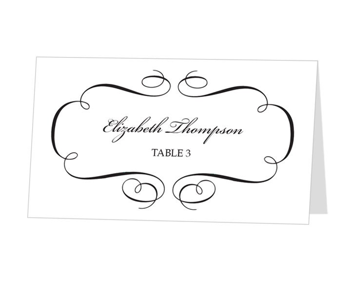 Ridiculous image regarding printable place card template