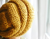 RESERVED LISTING _ Mustard Yellow Slouchy Beanie / Beehive Knit Hat - CHOOSE Your Color - Secret Life of Bees - Lit Knits