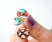 PINS made from recycled plastic and hand painted one of a kind bright straight pins for quilting and sewing