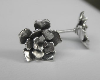 Cut Out Flower Earrings Sterling Silver Posts
