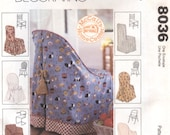 McCalls Home Decorating Sewing Pattern 8036 Chair Covers