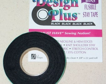 Design Plus Fusible black Bias Tape sewing notion