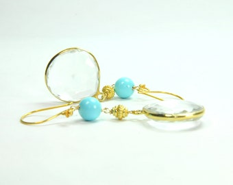 Turquoise Jewelry, Bridal Earrings, Bridal Jewelry, Bridesmaid Gifts
