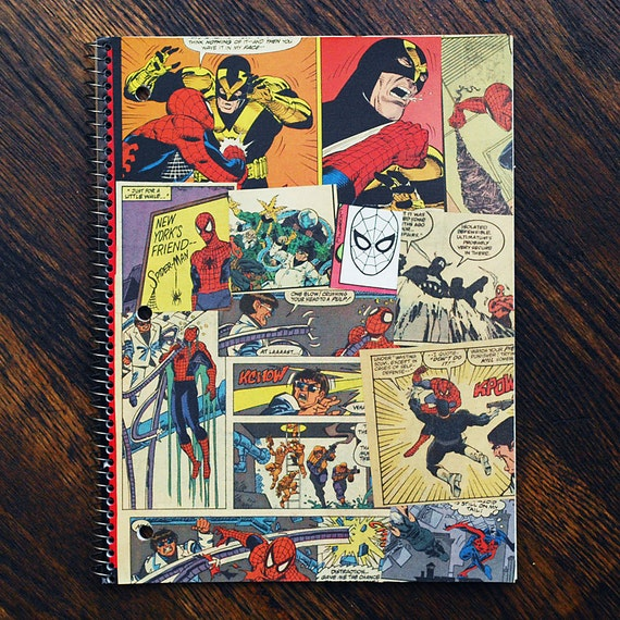 Spiderman and Punisher Notebook - back to school supplies - Marvel Comics