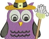 Halloween Embroidery Design - Halloween Hooter Witch - Halloween Owl Embroidery Design - Cute Embroidery Designs, owl, bird,