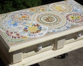 Mosaic Topped Garden Table