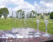 Unity Vase, Flute and Cake Server Set..............partial Bling