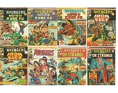 Avengers Comic Lot No's 49 50 51 52 53 54 55 57 Sequential Marvel Bronze Age 1975