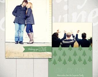 Christmas Card Template: O Christmas Tree B - Holiday Card 5x7 Template