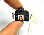 Personalized Canon 5D Mk II Camera miniature necklace
