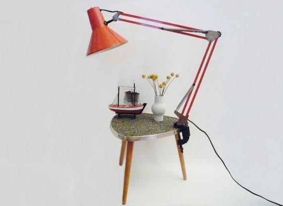 Lampe d 39 architecte lampe de bureau orange vintage - Lampe de bureau architecte ...