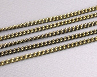 CHAIN-AB-TW-1.5MMx1MM - 10-Foot Antique Bronze Fine Twisted Link Chain