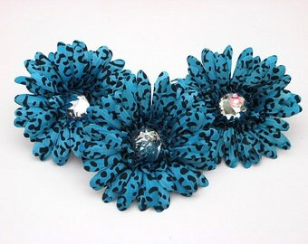 "Turquoise Cheetah 4"" Gerber Daisy (set of 3)was 2.70"
