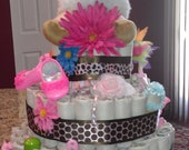 One of many made to order Diaper Cake