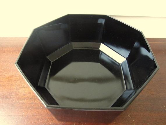 Sleek black bowl by Arcoroc France.  Salad or Fruit bowl.  Popcorn or chip bowl.
