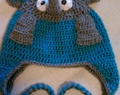 Crochet Lazy Elephant Hat