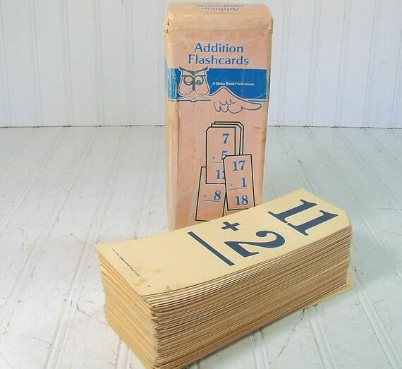 Flash Cards Collection - Vintage Beka Book Publications - Complete Set of 170 Addition Cards in Original Box