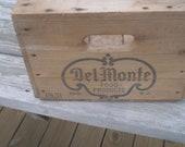Rustic Vintage wood box California Del Monte Box 1961